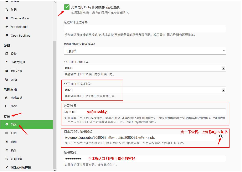 黑群晖安装Emby注意事项及开启SSL安全访问教程